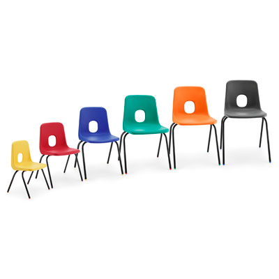 Series E Chair 2 brown charcoal blue black emerald green jade acid orange red sapphire yellow purple