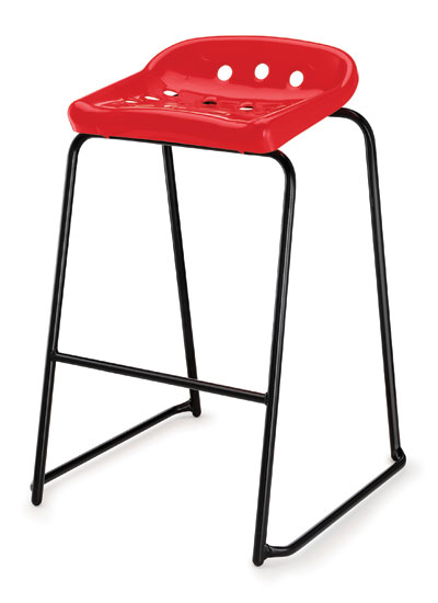 pepperpot stool 1 red