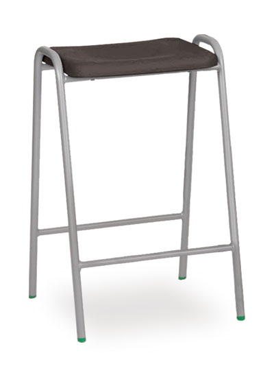 poly stool 1 black