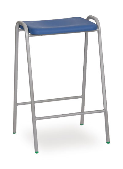 poly stool 1 blue