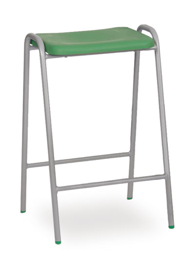 poly stool 1 green