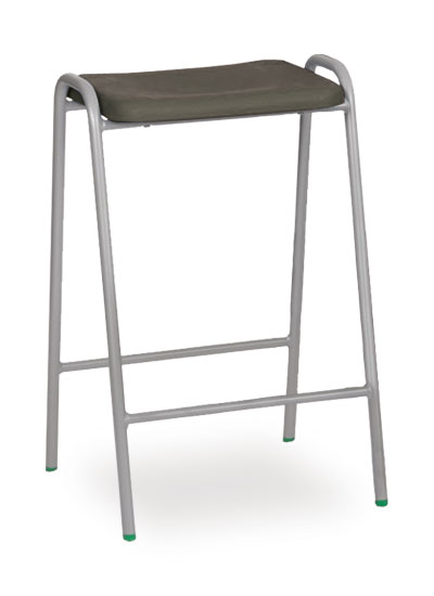 poly stool 1 grey