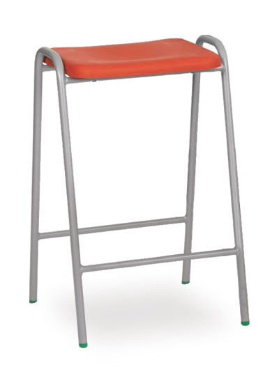 poly stool 1 red