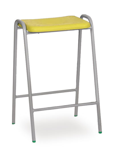 poly stool 1 yellow