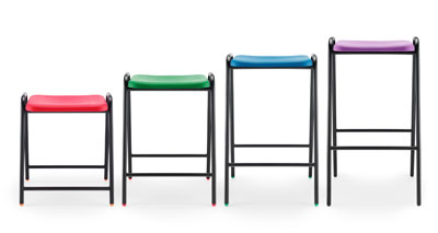 poly stool 3 blue jade emerald green red brown black grey sapphire yellow purple