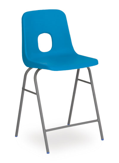 series e stool blue