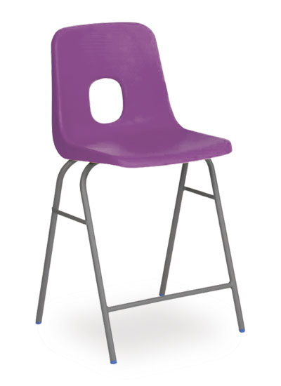 series e stool purple
