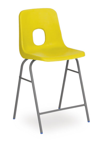series e stool yellow