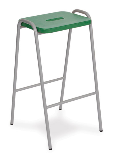 wooden top stool green