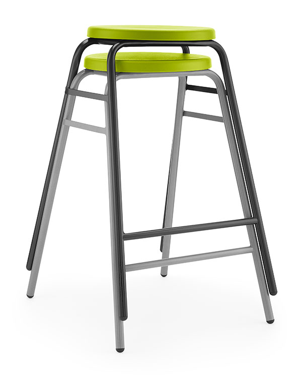 Round Top Stool 3 green