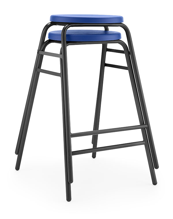 Round Top Stool 4 blue