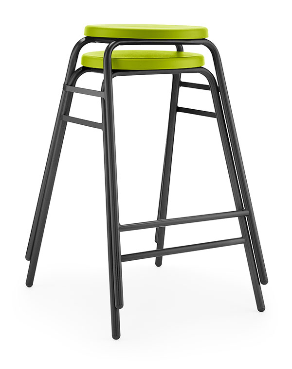 Round Top Stool 4 green