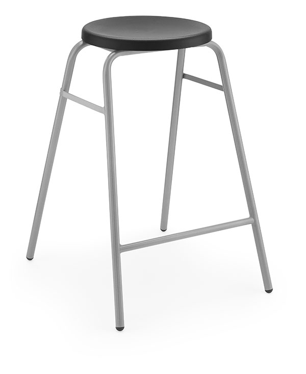 Round Top Stool 1 black
