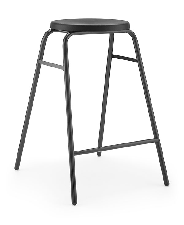 Round Top Stool 2 black