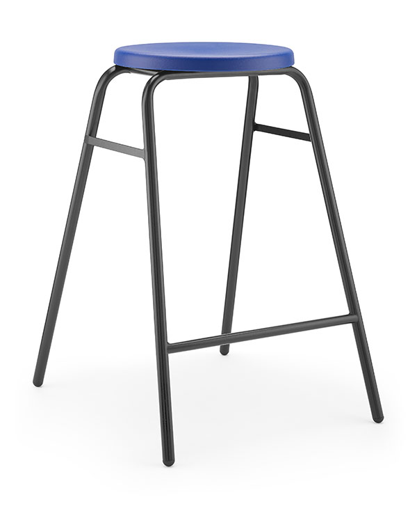 Round Top Stool 2 blue