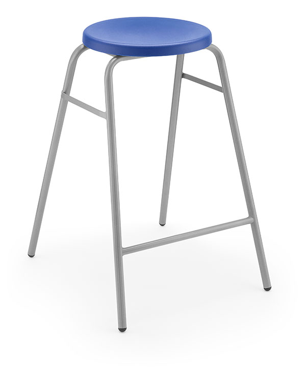 Round Top Stool 1 blue