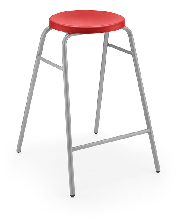 Round Top Stool 1 red