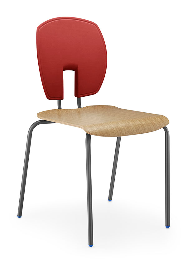 SE Curve Chair polished wood seat version
