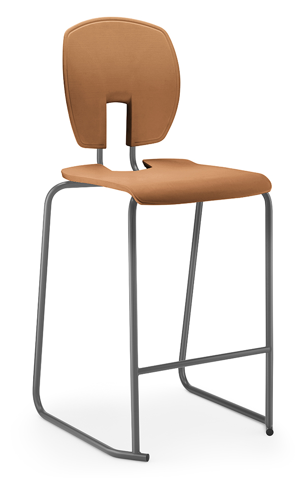 SE Curve Stool 1 Terracotta