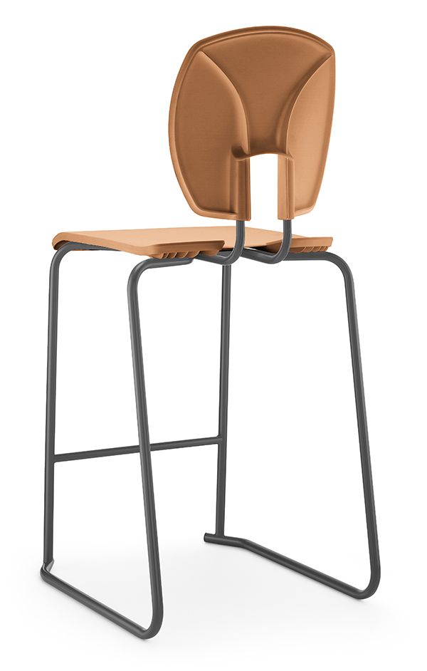 SE Curve Stool 2 Terracotta