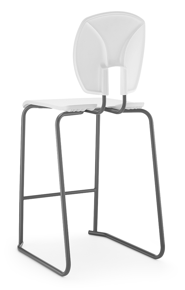 SE Curve Stool 2 white