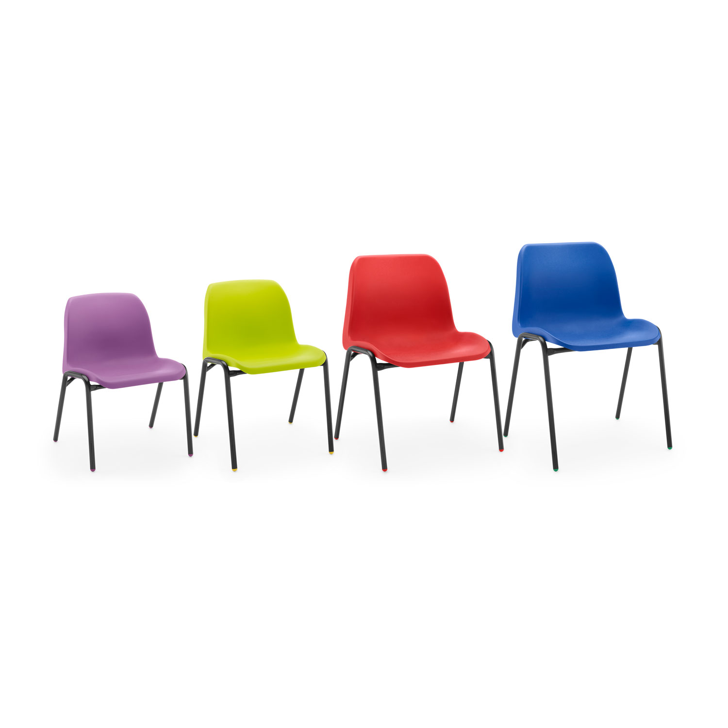 affinity chair group of 4 blue red lime purple