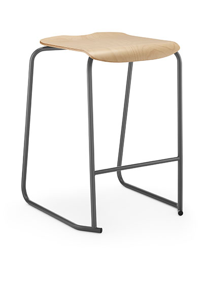 SE wooden backless stool